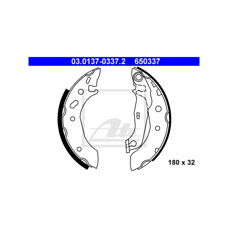 Brake Shoes BBS6256 Borg /& Beck Set 1005960 1005970 1059500 1101838 1104127 New